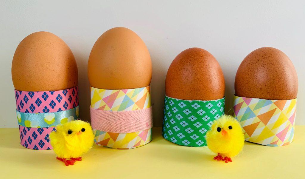 knutsel ideeen,eierdopjes maken,eierdopjes wc rollen,eierdopjes paasontbijt