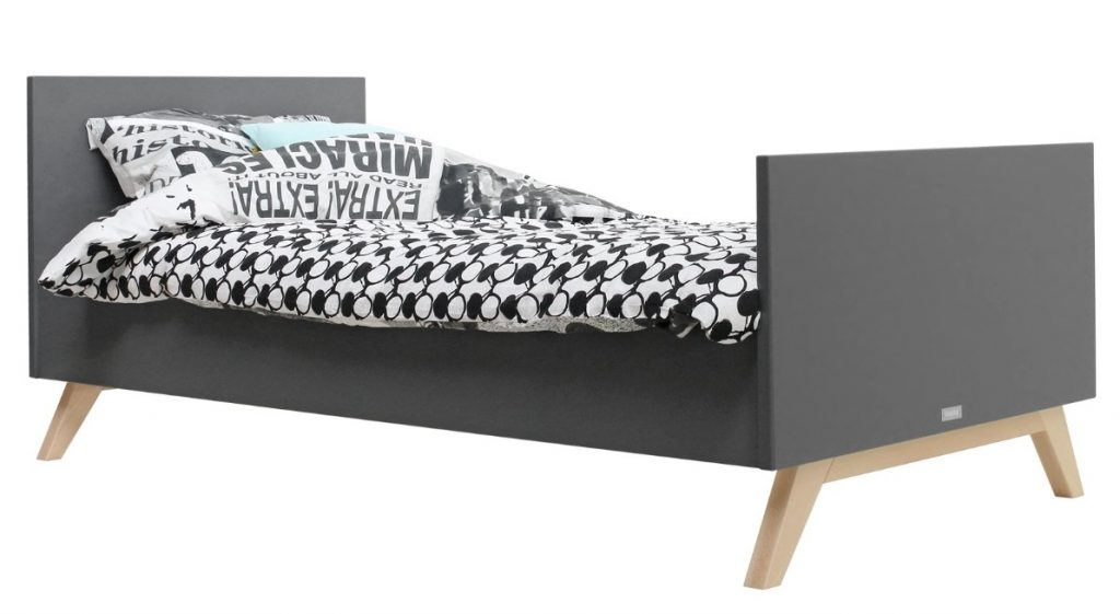 kinderbed,donkergrijs bed,bopita kyan bed,scandinavisch bed