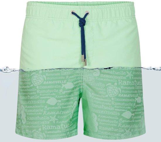 vader en zoon zwembroeken,ramatuelle kiwi zwembroek groen