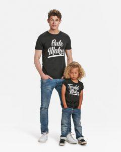 vaderdag cadeaus,vader en zoon tshirts