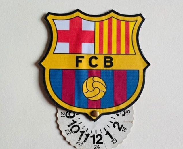 vaderdag knutselen,parkeerschijf fc barcelona,parkeerschijf vaderdag,voetbal parkeerschijf