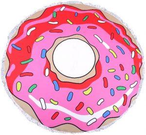 strandlaken,donut strandlaken,roze badlaken