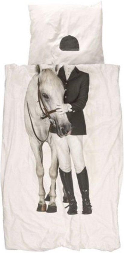 snurk dekbedovertrek amazone,dekbedovertrek paardrijden,paarden dekbedovertrek,dekbedovertrek met paard erop