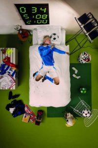 behang kinderkamer,voetbal dekbedovertrek,snurk dekbedovertrek voetbal