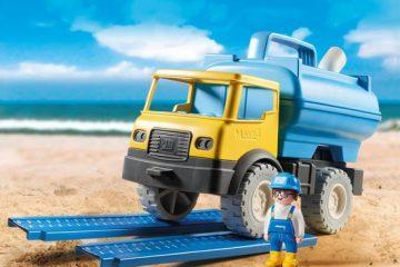 strandspeelgoed playmobil,strand vrachtwagen met watertank