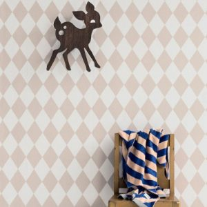 behang kinderkamer,harlequin behang ferm living,ferm living behang roze witte ruitjes