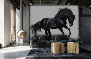 behang kinderkamer,paarden behang,unicorn behang,eenhoorn behang,fries paard behang
