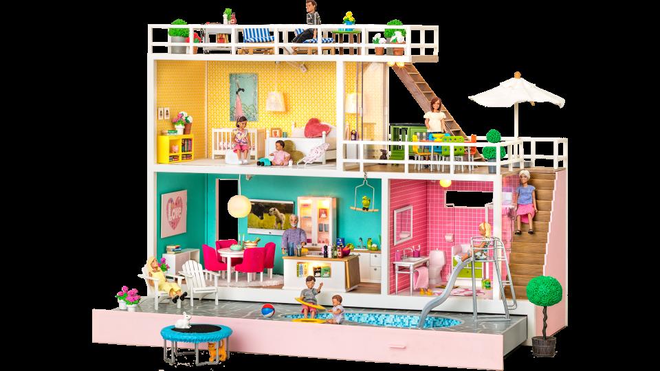 poppenhuis,nieuw lundby poppenhuis