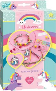 unicorn cadeau,unicorn regenboog sieraden maken,unicorn rainbow jewels totum