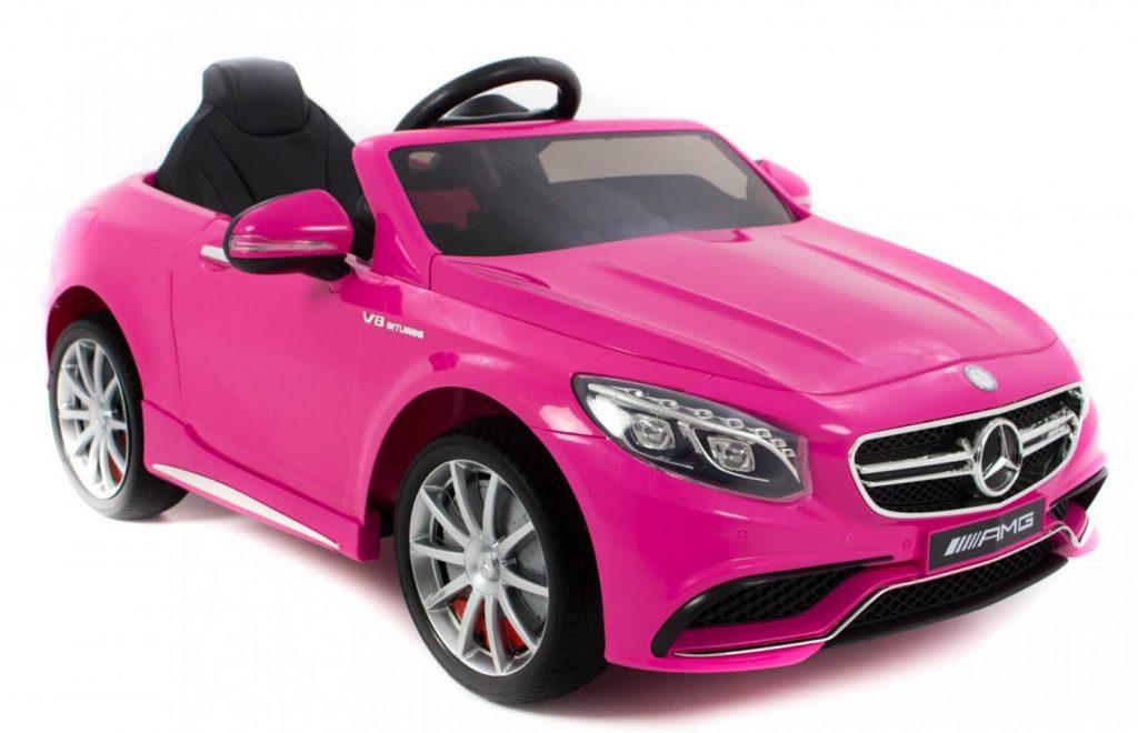 prinsessencadeaus,roze auto voor kinderen,elektrische auto,mercedes kinderauto