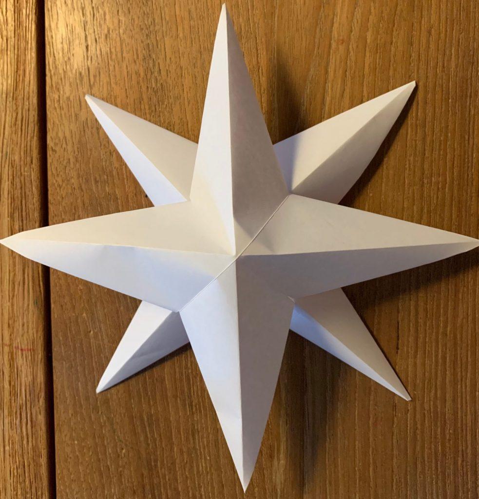 kerst knutselen,ster maken,3d ster vouwen,ster origami,kerstster maken