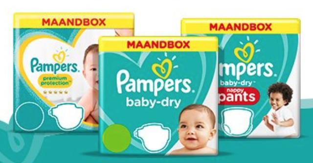 maat pampers,aanbieding pampers,maandbox pampers,voordeelverpakking pampers,voordeelbox pampers