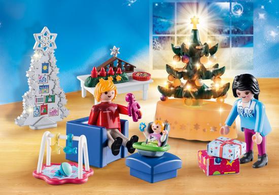 kerstspeelgoed,woonkamer in kerststijl playmobil,9495 playmobil
