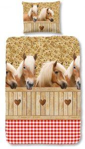 paarden dekbedovertrek,dekbedovertrek met haflingers erop