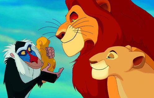 The Lion King,oude film the lion king,simba en mufasa