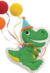 kinder verjaardagstaarten,dino taart,zelf een dino taart maken