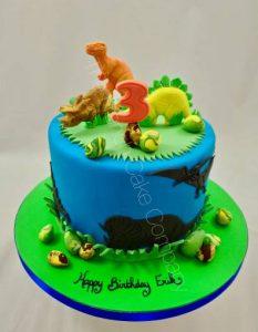 kinder verjaardagstaarten,dino taart,dinosaurus taart
