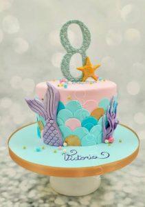 kinder verjaardagstaarten,mermaid taart,zeemeermin taart maken