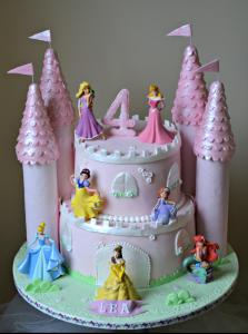 kinder verjaardagstaarten,prinsessentaart,prinsessen taart,disney prinsessen taart