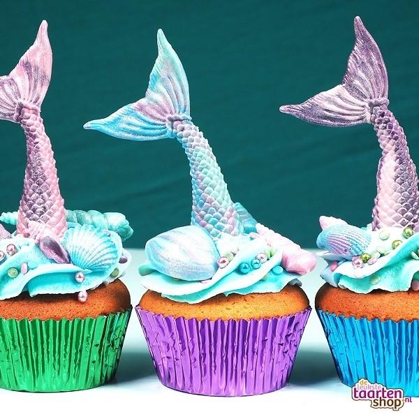 cupcake recepten,mermaid cupcakes,zeemeermin cupcakes