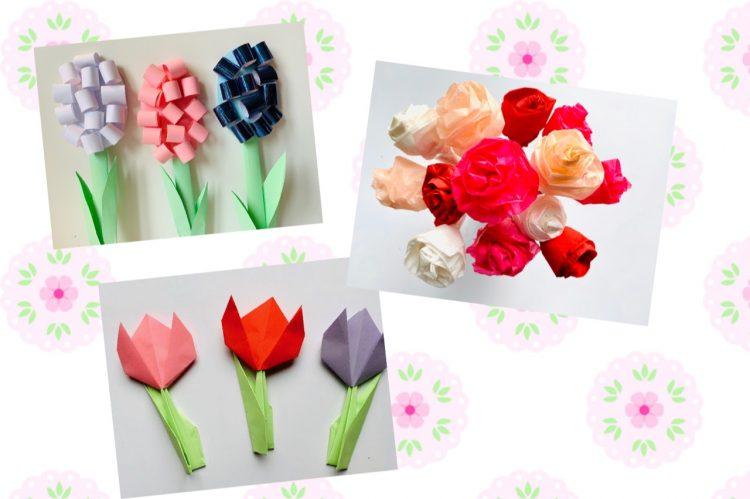 papieren bloemen,bloemen knutselen,hyacinten knutselen,voorjaar knutselen,lente knutselen,tulpen diy,tulpen knutselen,rozen knutselen