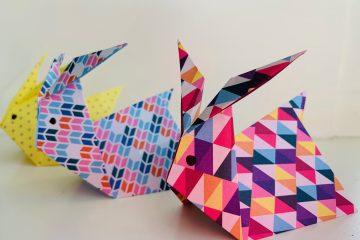 paashaasjes,paashaas knutselen,konijn vouwen,origami konijn,origami haas
