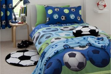 voetbalkamer,voetbalbed,voetbal bed,dekbed overtrek voetbal