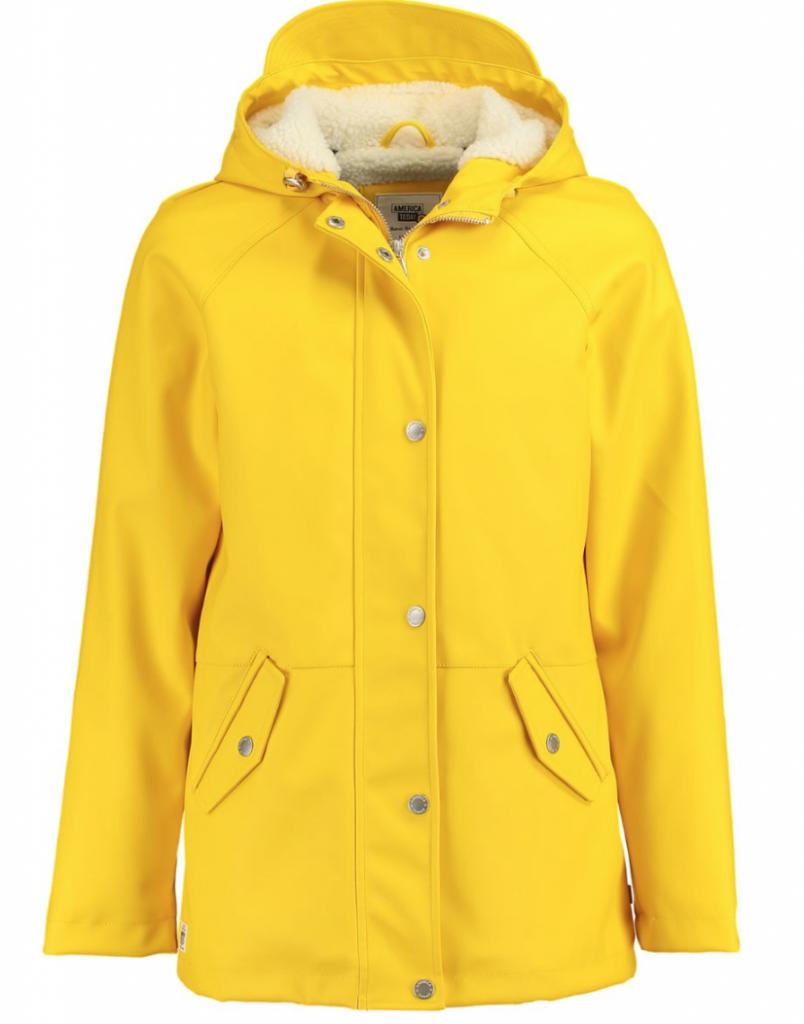 kinder regenkleding,geel regenjack kind,gevoerde regenjas geel