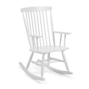 schommelstoel,witte schommelstoel,houten schommelstoel,schommelstoel babykamer