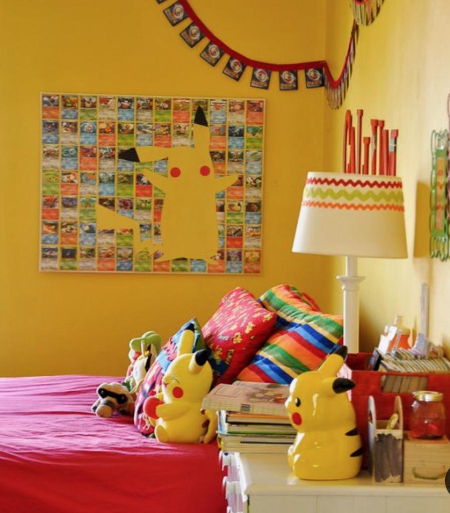 pokemon slaapkamer,pokemon kinderkamer inspiratie