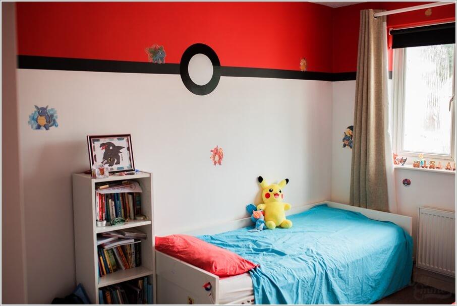 pokemon slaapkamer,muur pokemon