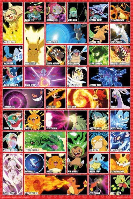 pokemon slaapkamer,pokemon poster