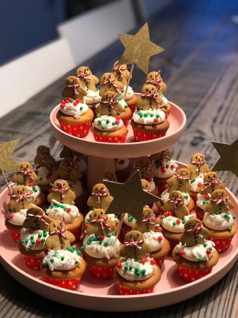 kerstdiner school,kerst cupcakes