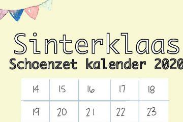 schoenzet kalender,aftelkalender sinterklaas 2020,wanneer schoen zetten,kalender schoen zetten,sinterklaas kalender,aftelkalender 5 december,jongens en meiden