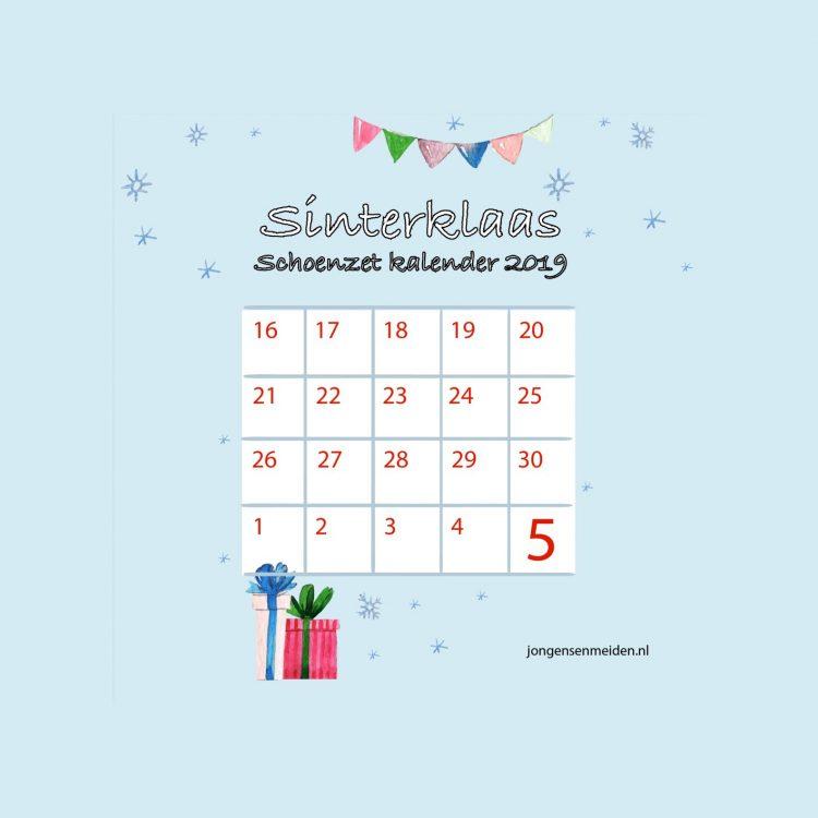 schoenzet kalender,aftelkalender sinterklaas,sinterklaas kalender jongens en meiden