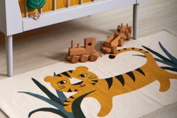 vloerkleed kinderkamer,tijger vloerkleed,jungle vloerkleed