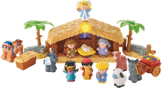 kerststal,little people kerststal,fisher price