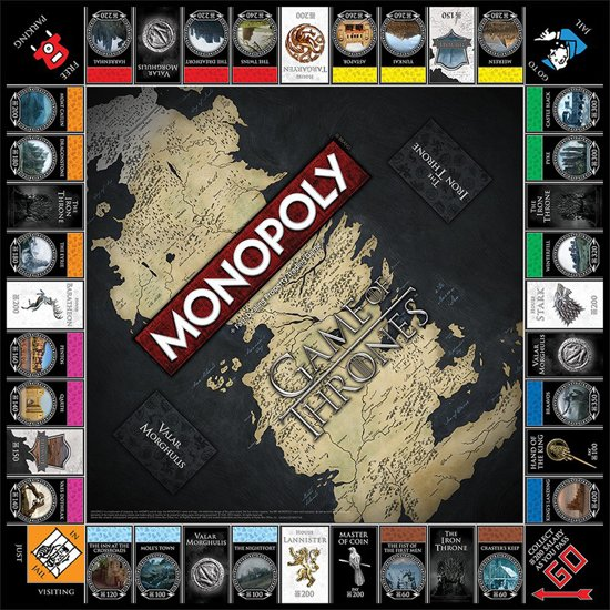 monopoly spel,game of thrones