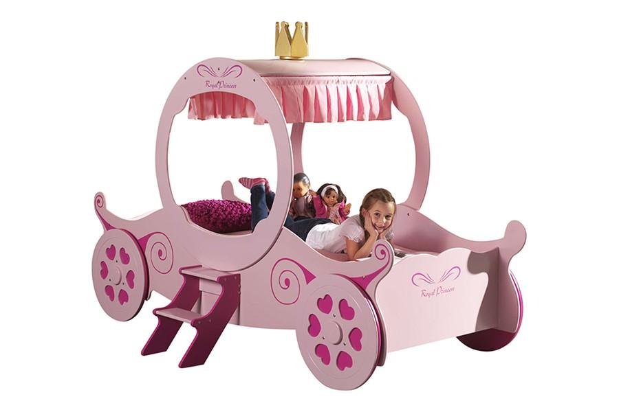 prinsessenkamer,prinsessenbed,koets bed,meisjesbed