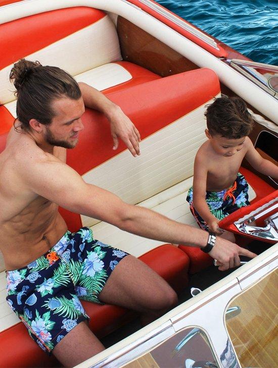 vader en zoon zwembroeken