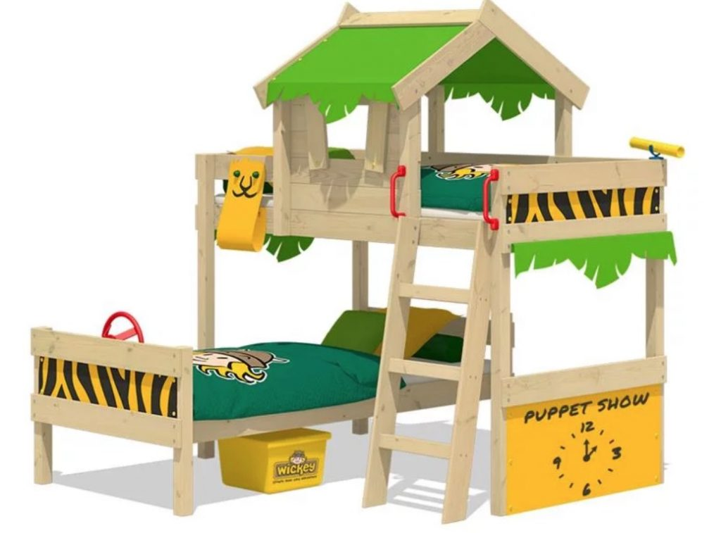 jungle bed wickey,kinder stapelbed