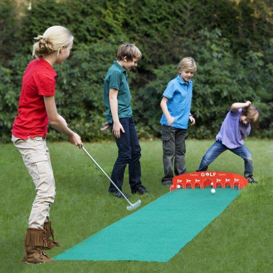sporten met de kids,thuis school,corona tips kinderen,golfset voor binnen