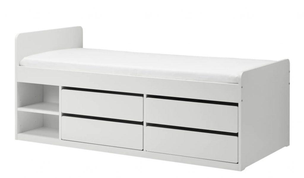 slakt bed,meisjesbed,kinderbed met lades,wit bed met lades,leuk meisjesbed,leuk jongensbed,slakt bed ikea
