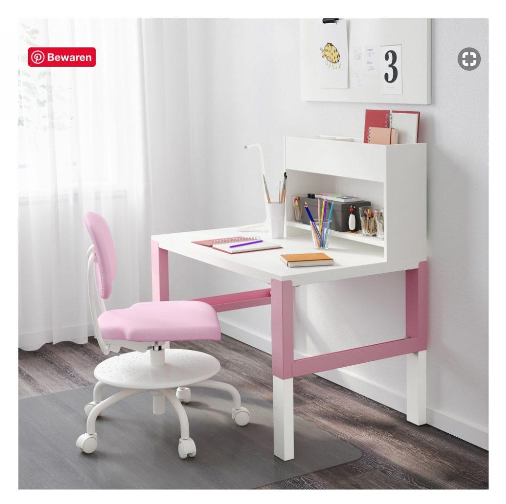 pahl bureau ikea,wit met roze kinderbureau,kinderbureau ikea