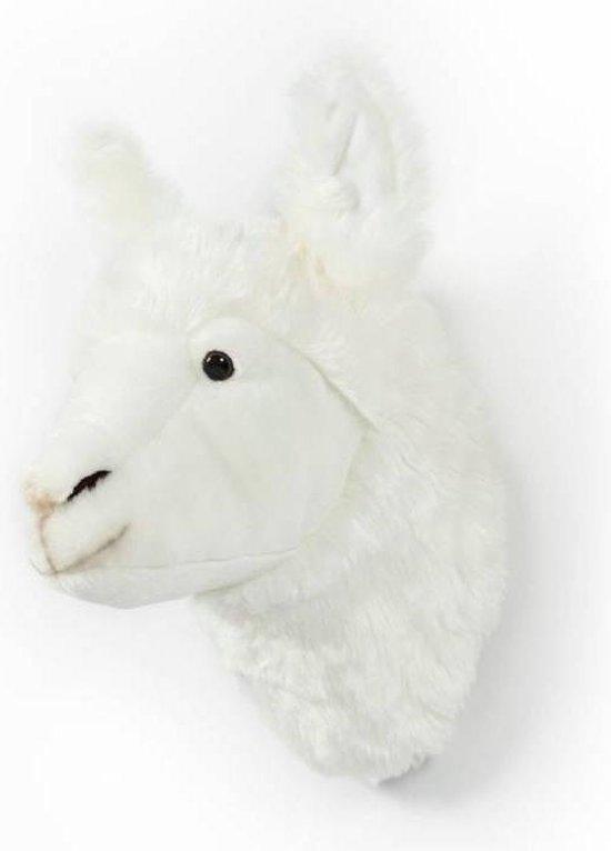 lama dierenkop,pluche lama hoofd,pluche alpaca hoofd