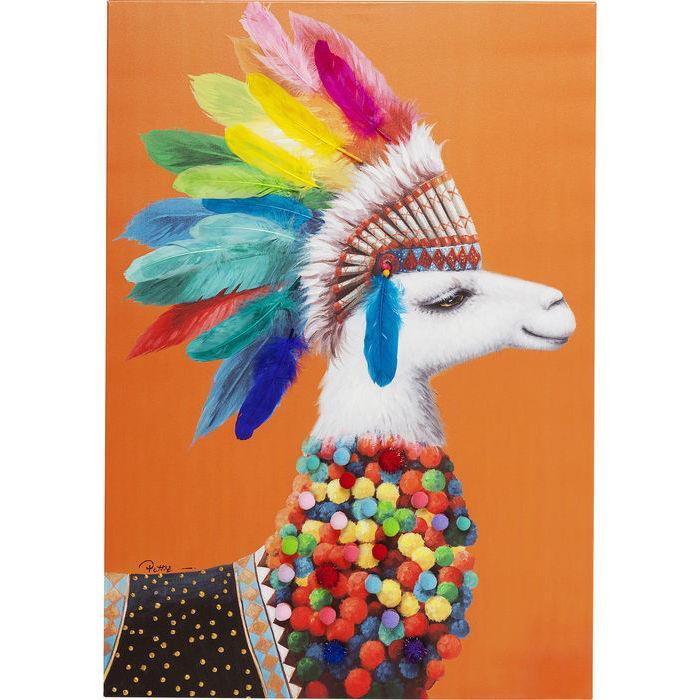 lama kamer,lama schilderij,lama poster,kare design,schilderij alpaca