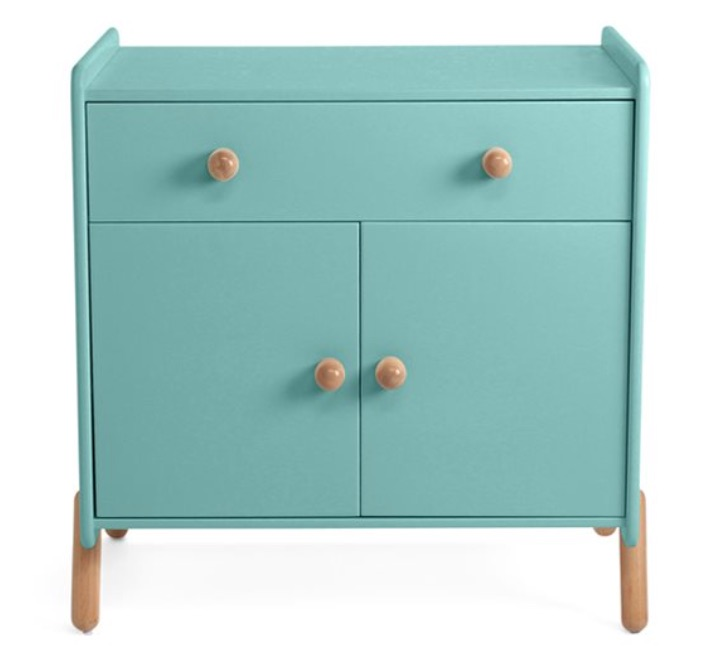 babykamer commode,baby commode,hippe commode,mooie commode,ukkepuk vrolijk commode,retro commode,zeegroene commode,cyaan commode