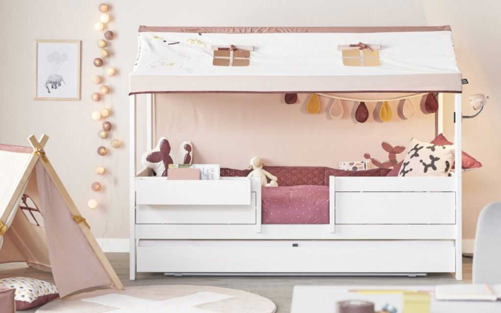 lifetime kidsrooms hutbed funland,meegroeibed,mooi kinderbed,4 in 1 bed lifetime,lifetime hoogslaper,lifetime halfhoogslaper