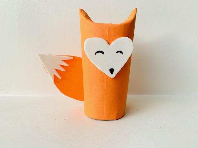 vosje knutselen,vos maken,vos wc rol,vos toiletrol,vosje knutselen,kleuter knutselen,tips en ideeen najaar knutselen