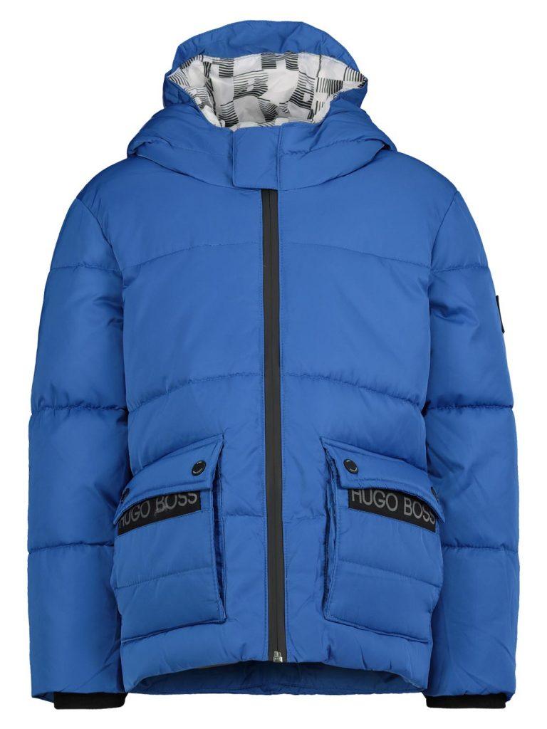 hugo boss jongens winterjas,blauwe jongens winterjas met capuchon,stoere jongens winterjas